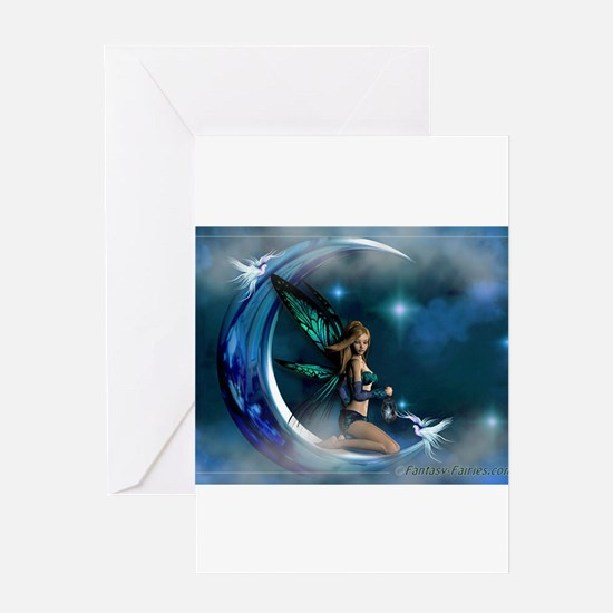 Fairy Angel Moon Butterfly Wings Greeting Cards