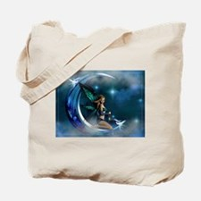 Fairy Angel Moon Butterfly Wings Tote Bag