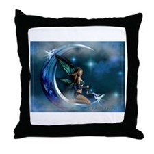 Fairy Angel Moon Butterfly Wings Throw Pillow