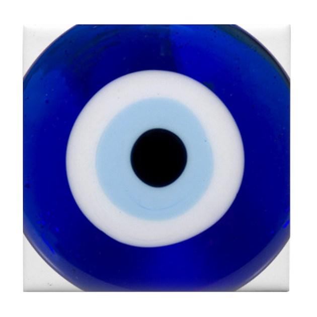 Nazar Amulet Evil Eye Protection Tile Coaster by NazarEvilEye