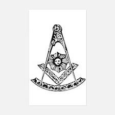 Masonic Rectangle Decal