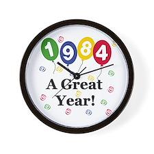 1984 A Great Year Wall Clock