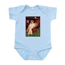 Seated Angel & Bolognese Infant Bodysuit