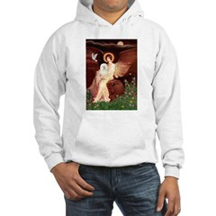 Seated Angel & Bolognese Hooded Sweatshirt