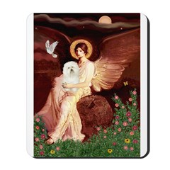 Seated Angel & Bolognese Mousepad