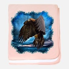 Eagle in Flight baby blanket