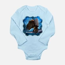 Eagle in Flight Long Sleeve Infant Bodysuit