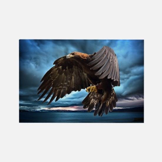 Eagle in Flight Rectangle Magnet