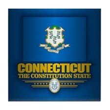 Connecticut (v15) Tile Coaster