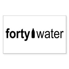 Forty Water Rectangle Decal
