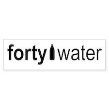 Forty Water Bumper Car Sticker