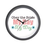 Obey Bride Wedding Wall Clock