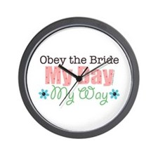 Obey Bride Wedding Wall Clock