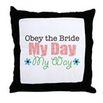 Obey Bride Wedding Throw Pillow