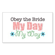 Obey Bride Wedding Rectangle Decal