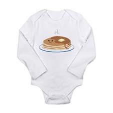 Cute Pancakes Long Sleeve Infant Bodysuit