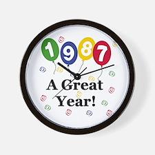 1987 A Great Year Wall Clock