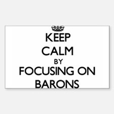 Keep Calm by focusing on Barons Decal
