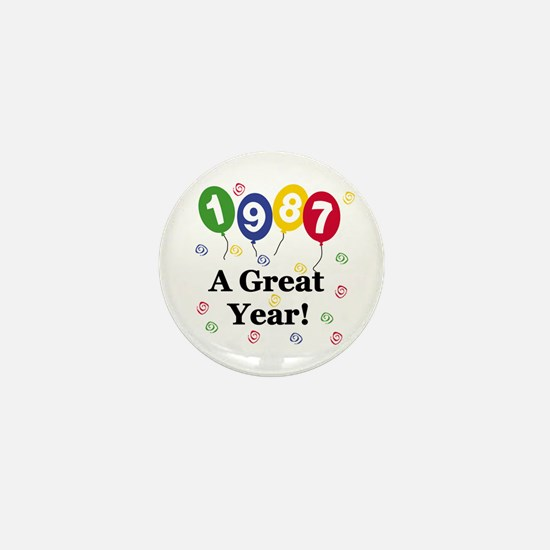 1987 A Great Year Mini Button