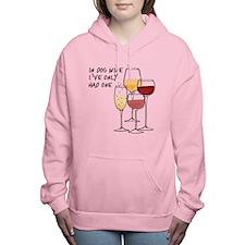 In dog wine Women's Hooded Sweatshirt