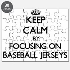 Keep Calm by focusing on Baseball Jerseys Puzzle