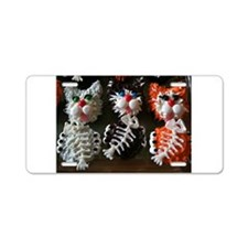 fat cat cupcakes Aluminum License Plate