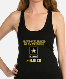Proud U.S. Army Girlfriend Racerback Tank Top