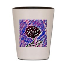 Bright Rose Shot Glass