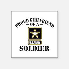 Proud U.S. Army Girlfriend Square Sticker 3