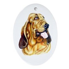 Bloodhound Bust Oval Ornament