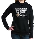 Proud army sister Hooded Sweatshirt