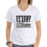Army sister Womens V-Neck T-shirts