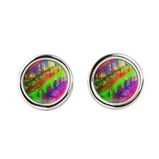 Cute Painting Round Cufflinks