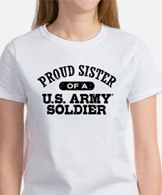 Proud U.S. Army Sister Women's T-Shirt