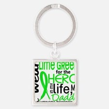 Cute Lime green Square Keychain
