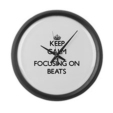 Keep Calm by focusing on Beats Large Wall Clock