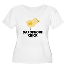 Saxophone Chick Plus Size T-Shirt