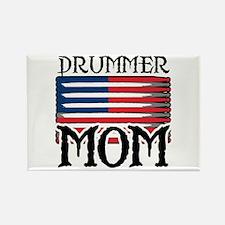 Drummer Mom USA Flag Drum Rectangle Magnet