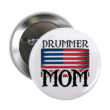Drummer Mom USA Flag Drum Button