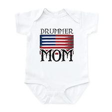 Drummer Mom USA Flag Drum Infant Bodysuit