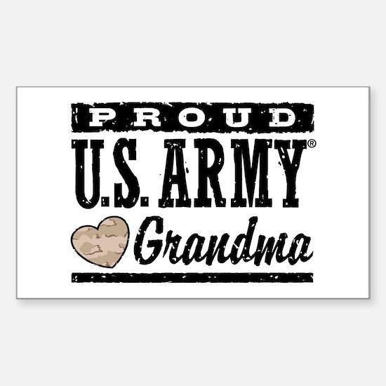 Proud U.S. Army Grandma Sticker (Rectangle)
