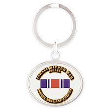 Israel - Kippur War Campaign Ribbon Oval Keychain