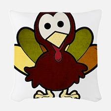 Little Turkey Woven Throw Pillow