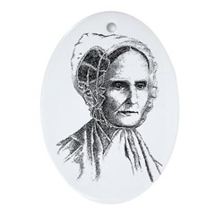 Lucretia Coffin Mott Oval Ornament