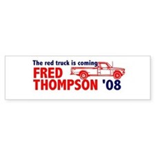 Red Truck Bumper Bumper Sticker