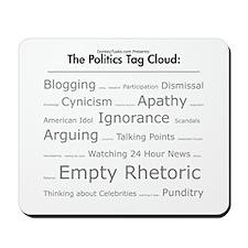 Satirical Tag Cloud Mousepad
