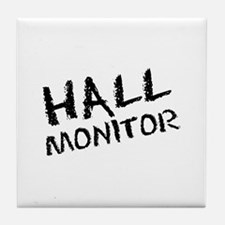 Hall Monitor Funny School Tile Coaster