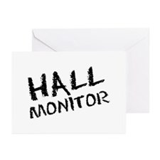 Hall Monitor Funny School Greeting Cards (Package