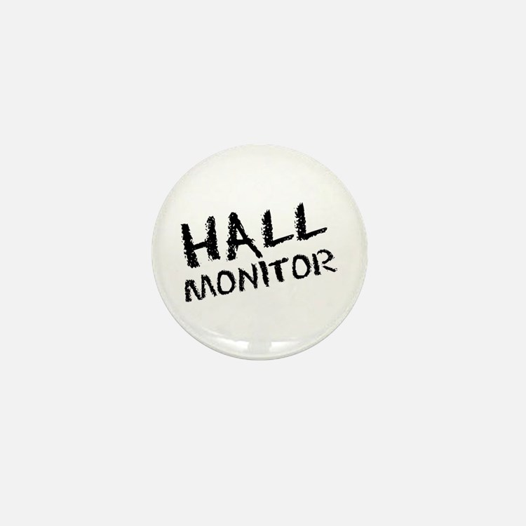 Hall Monitor Funny School Mini Button