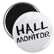 """Hall Monitor Funny School 2.25"""" Magnet (100 pack)"""
